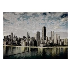 Photorealism Jacquard Wall Décor/Panel Chicago Skyline