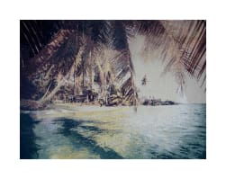 Photorealism Jacquard Wall Décor/Panel Tropical Beach