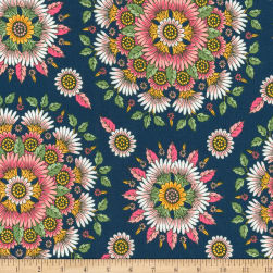 Kaufman Delphine Medallion Flowers Spring Fabric