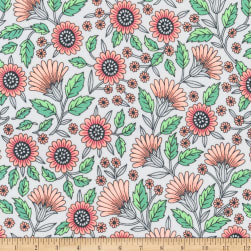 Kaufman Delphine Flowers Blush Fabric
