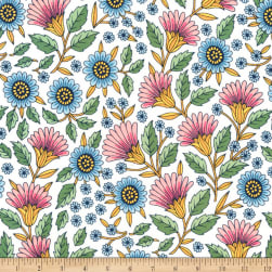 Kaufman Delphine Flowers Spring Fabric