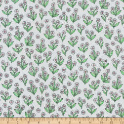 Kaufman Delphine Floral Flowers Grey Fabric