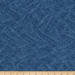 Kaufman Lou Lou Abstract Indigo Fabric