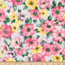 Kaufman Woodside Blossom Flowers Spring Fabric