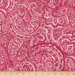 Kaufman Woodside Blossom Paisley Rose Fabric