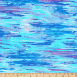 Kaufman Morningmoon Fairies Cornflower Blender Blue/Purple Fabric