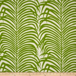 Schumacher Indoor/Outdoor Zebra Palm Leaf Fabric
