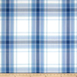 Schumacher St. Martin Plaid Cornflower Fabric