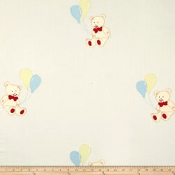100% Cotton Teddy Balloons Embroidery Fabric