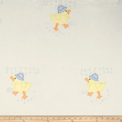 100% Cotton Rain Ducklings Embroidery Fabric