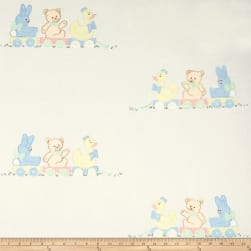 100% Cotton Teddy's Playground Embroidery Fabric