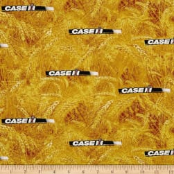 Case IH Logo Allover Yellow Fabric