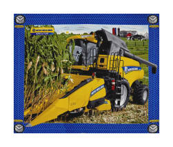 New Holland Combine 36'' Panel Yellow Fabric