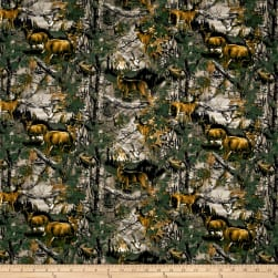 Realtree Deer Country Flannel Allover Fabric