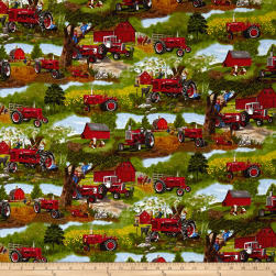 Farmall Scenic Allover Multi Fabric