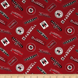Farmall Tossed Multi Logos Allover Multi Fabric