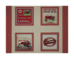 Farmall Country Check Pillow 36