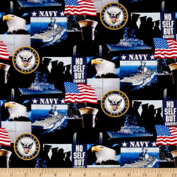 Military Navy Allover Multi Fabric