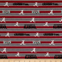 NCAA Alabama Crimson Tide Polo Stripe Fabric