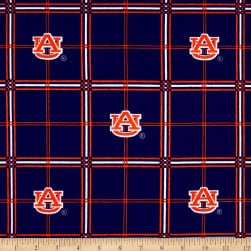 NCAA Auburn University Tigers Flannel Plaid Fabric