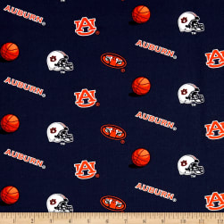 NCAA Auburn University Tigers Tossed Logos Allover White