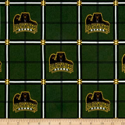 NCAA University Baylor Bears Flannel Plaid Fabric