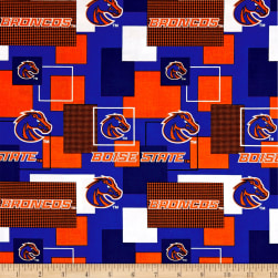 NCAA Boise State University Blocks Allover Fabric