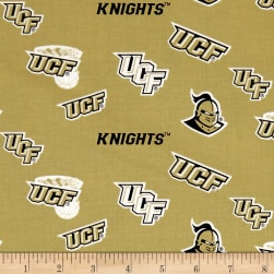 NCAA UCF Knights Tossed Logos Fabric