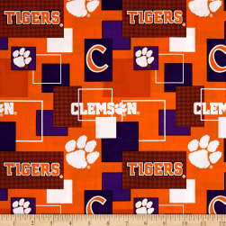 NCAA Clemson Blocks Allover