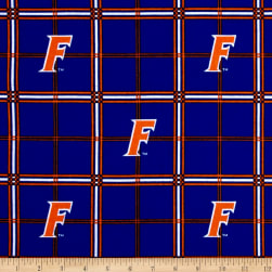 NCAA University of Florida Gators Flannel Plaid Fabric