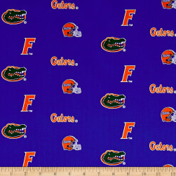 NCAA University of Florida Herringbone Allover Fabric