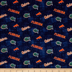 NCAA University of Florida Distress Logo Allover Fabric