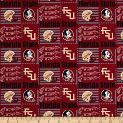 NCAA Florida State Patch Logos Allover Multi Fabric
