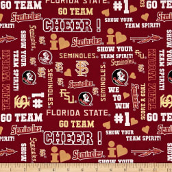 NCAA Florida State University Metallic Glitter Allover Metallic