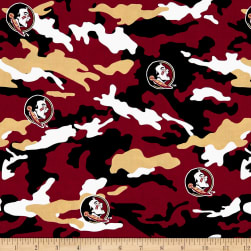 NCAA Florida State University Camouflage Fabric
