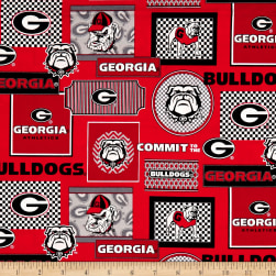 NCAA University of Georgia Packed Patches Allover Fabric