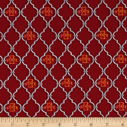 NCAA Iowa State University Trellis Logo Allover Fabric