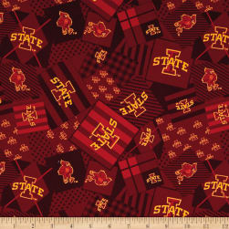 NCAA Iowa State Patch Allover Red Fabric