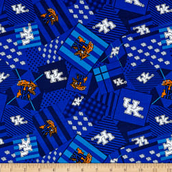 NCAA Kentucky Wildcats Patch Allover Blue Fabric