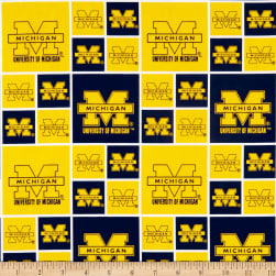 NCAA Michigan Wolverines Squares Blue