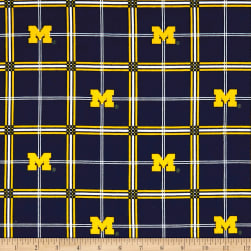NCAA University of Michigan Wolverines Flannel Plaid Blue/Yellow