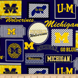 NCAA University of Michigan Packed Patches Allover Blue/Yellow