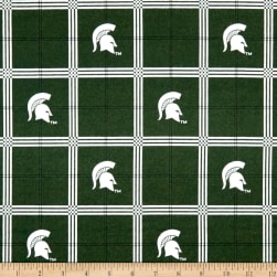 NCAA University of Michigan State Spartans Flannel Plaid