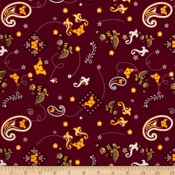 NCAA Minnesota Bandana Prints Red Fabric