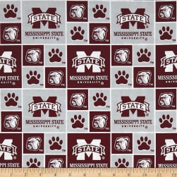 NCAA Mississippi State University Box Logos Allover Fabric