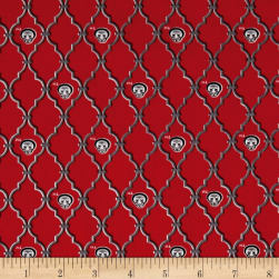 NCAA Ohio State Trellis Logo Cotton Allover Red