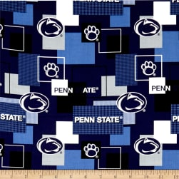 NCAA Penn State Blocks Allover Blue Fabric