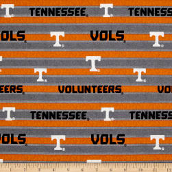 NCAA Tennessee Volunteers Polo Stripe Allover Grey Fabric