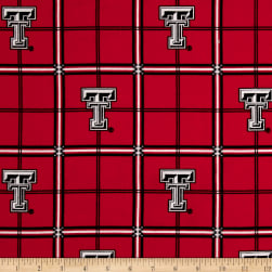 NCAA Texas Tech University Red Raiders Flannel Plaid