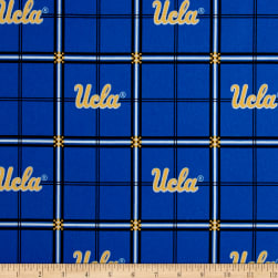 NCAA UCLA Bruins Flannel Plaid Blue Fabric